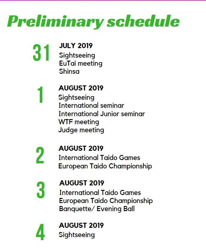 eutai schedule
